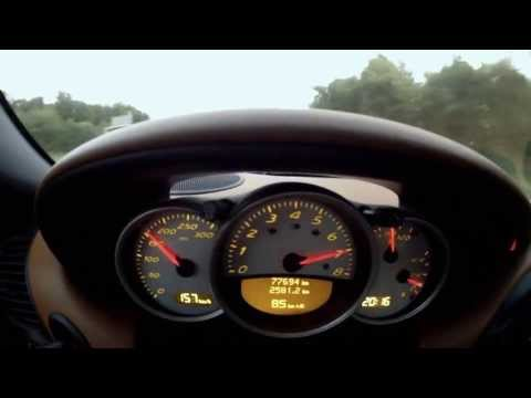 Porsche Boxster S 986 - Brutal acceleration sound and top speed 282 KM/H !!! HD
