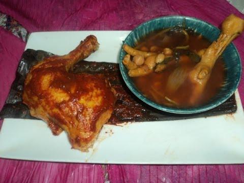 Receta de Pollo en Barbacoa-Pollo en Barbacoa con Consome-lasdeliciasdelupita