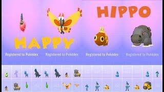 Pokemon Go Wild Trash Burmy-Hippopotas♂♀ & Mothim-Hippowdon♀ Evolutions