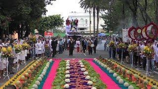 2019-08-15 Alegres mixqueños, alfombra de frutas y verduras para la Virgen de la Asunción