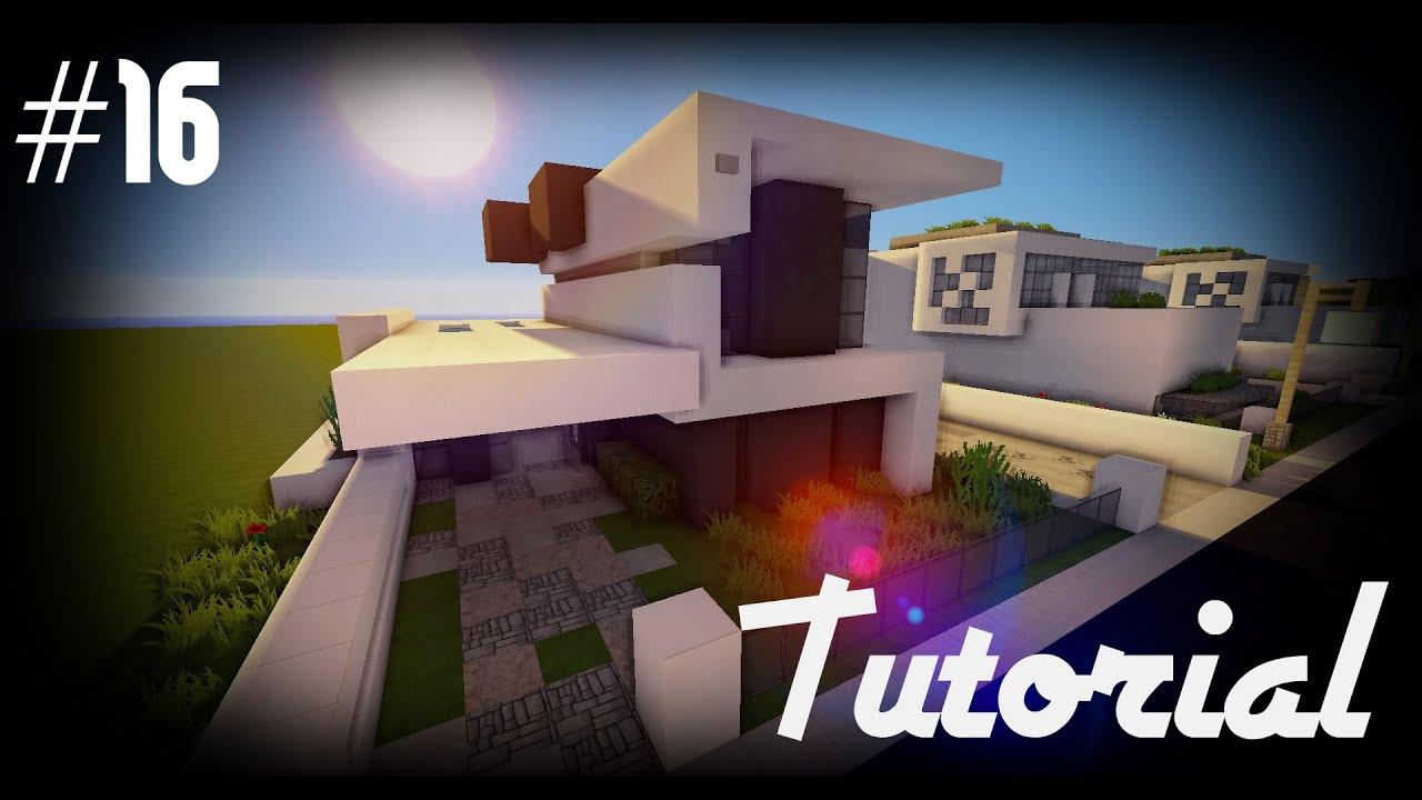Minecraft como hacer una casa moderna 16 tutoriales - Construir casa moderna ...