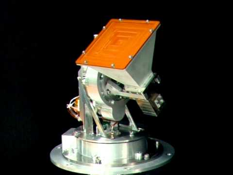 Surrey Satellite Technology Antenna Pointing Mechanism and X Band Antenna.AVI