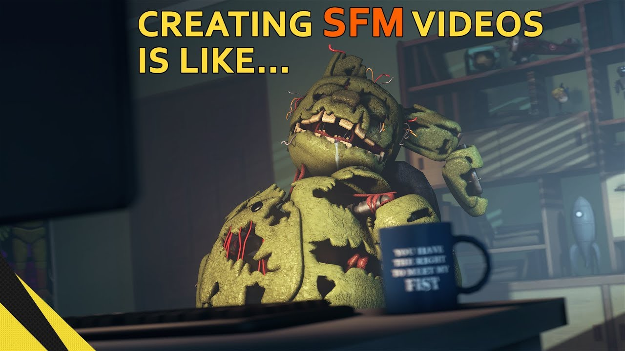 [SFM] Creating SFM videos is like... | FNAF Animation