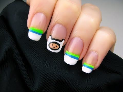Adventure Time Nail Art - YouTube