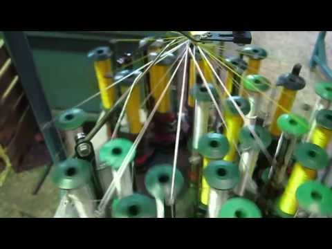 Flat Braiding Machine (тесьмоплетельная машина) Tp13 13-1-80 video