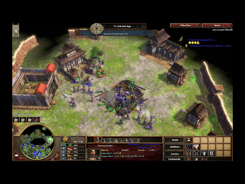 Uprising! - Japan M2 - Hard Walkthrough - Age of Empires III Asian Dynasties