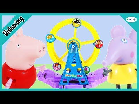 Unboxing Peppa Pig Amusement Park - Peppa Pig Roller Coaster