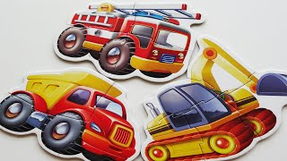 BABY Puzzles Jigsaw Games Rompecabezas De Puzzle For Kids Toys Learning  Car Fire Truck motorbike