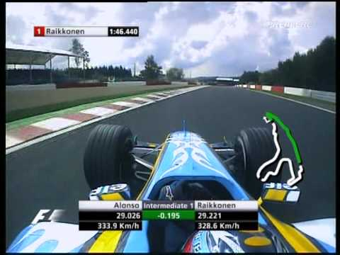 F1 Spa 2005 Qualifying - Fernando Alonso Lap