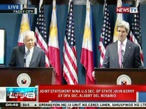 NTVL: Joint statement nina US Sec. of State John Kerry at DFA Sec. Albert Del Rosario