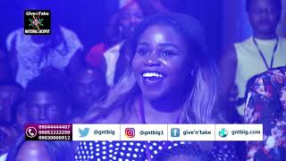 Koker performing at the Week 18 of the National Jackpot TV Gameshow
