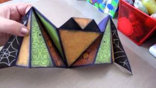 Project Share~my Hubby Nick's Origami Bat With Diamond Fold Mini Album