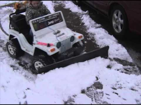Power Wheels Jeep Snow Plow conversion