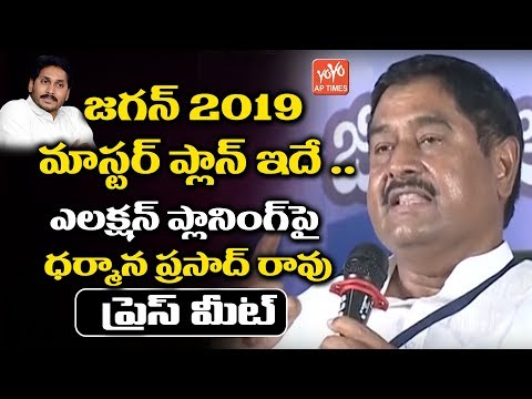 YS Jagan Master Plan 2019 | YSRCP Senior Leader Dharmana Prasada Rao Speech | YSRCP | YOYO AP Times