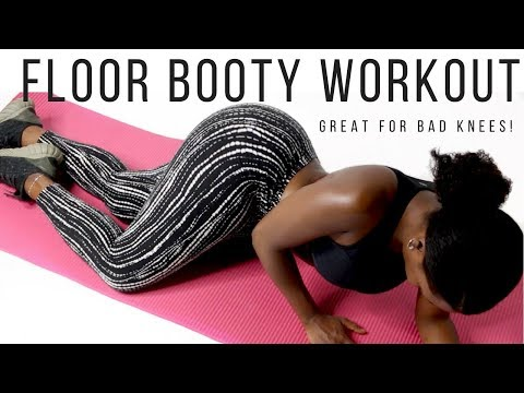 5 Min Booty Workout on the Floor | Bad Knees | No Squats thumbnail