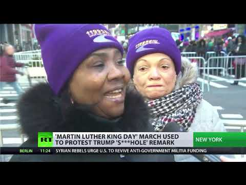 Martin Luther King Day march used to protest Trump 's***hole' remark