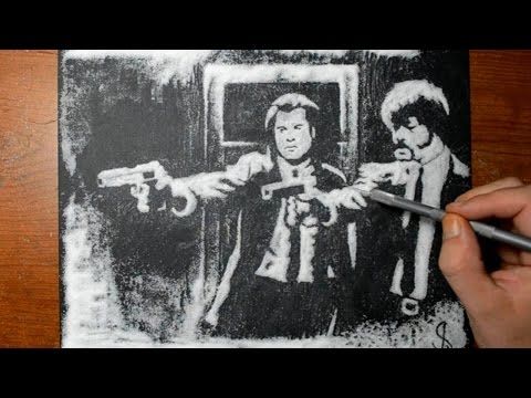 Drawing Pulp Fiction in Sugar