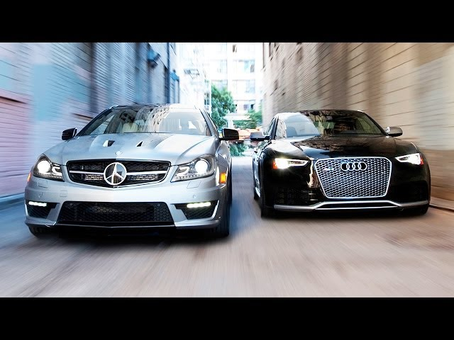 2014 Audi RS5 vs 2014 Mercedes-Benz C63 507 Coupe! - YouTube