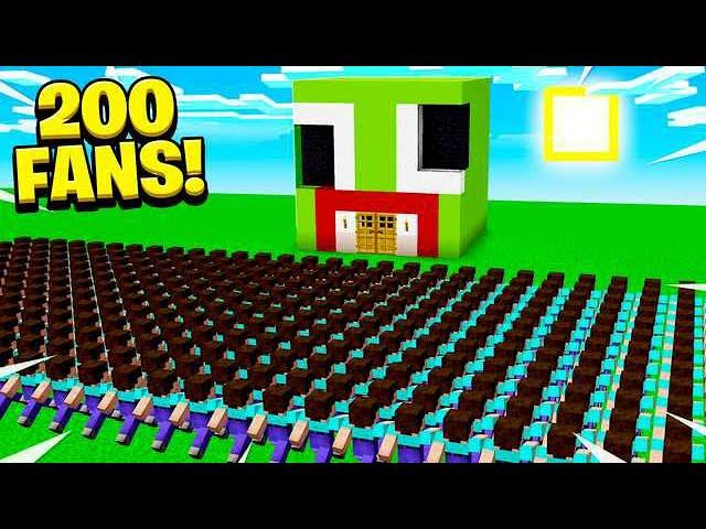 200 FANS FOUND MY SECRET MINECRAFT BASE!