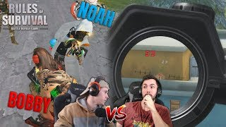 Bobby Plays vs NoahFromYoutube (Both Viewpoints) Rules of Survival Mobile
