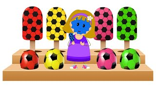 Learn Colors with Soccer Balls Shapes & Ice Cream Candies | Fun Learning Videos by KidsCamp