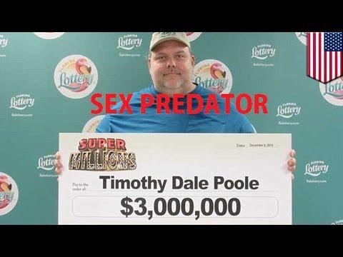 Convicted sex offender, nanalo ng 3 million sa lotto sa Florida!