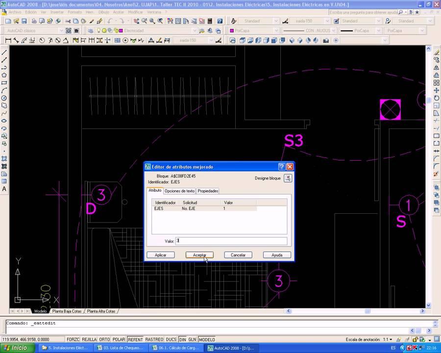 Video 09 planos el ctricos iluminaci n cuadros de carga - Iluminacion para cuadros ...