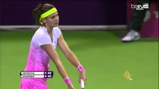 تتويج لوسي سافاروفا بلقب بطولة قطر للتنس