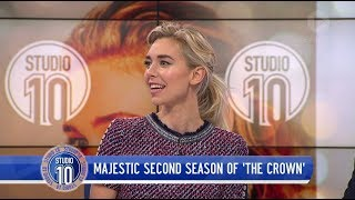 Vanessa Kirby Talks Princess Margaret & 'The Crown'   Studio 10