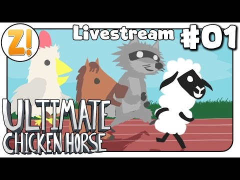 Ultimate Chicken Horse: Vier Tiere machen Chaos! #01 | Let's Play [DEUTSCH]