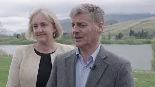 Bill English speaking after the final results dropped