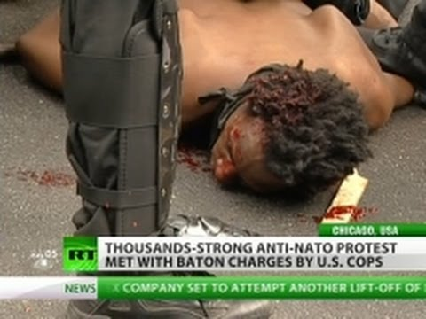 Siege of Chicago: Anti-NATO march baton charged