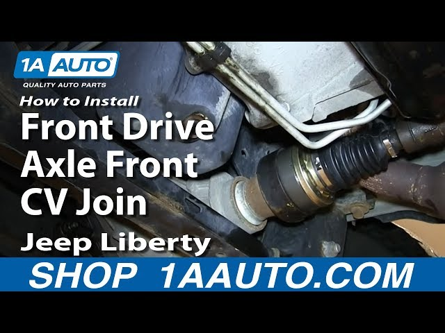 How To Rebuild Replace Front Drive Axle Front CV Joint ...