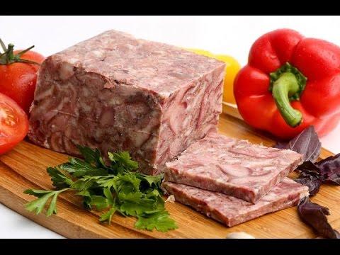 Как приготовить прессованное мясо - видео