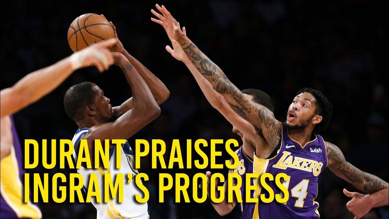 Warriors' Kevin Durant on progress of Lakers' Brandon Ingram