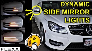 MERCEDES LED DYNAMIC SIGNAL MIRROR INSTALL (SEQUENTIAL)