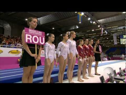 EC Brussels 2012 -- Gold for ROMANIA - Team Final Highlights