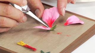 How To Use Sizzix Thinlits Hibiscus Flower Die 658416