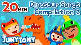 Dinosaur Songs Compilation 2 (20 min.) | The World's Best Dinosaur Songs | Kids Songs | KizCastle