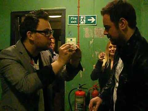 Adam Hoffman does magic for Danny Dyer! Adam vs Dynamo...