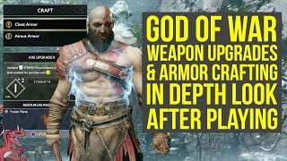 God of War WEAPON UPGRADES & ARMOR CRAFTING In Depth Look & Explained (God of War 4 - God of War 5)