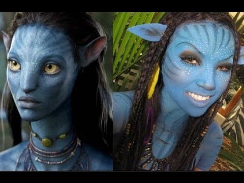 'Neytiri 'Avatar Halloween  Make-upTutorial ..!!!