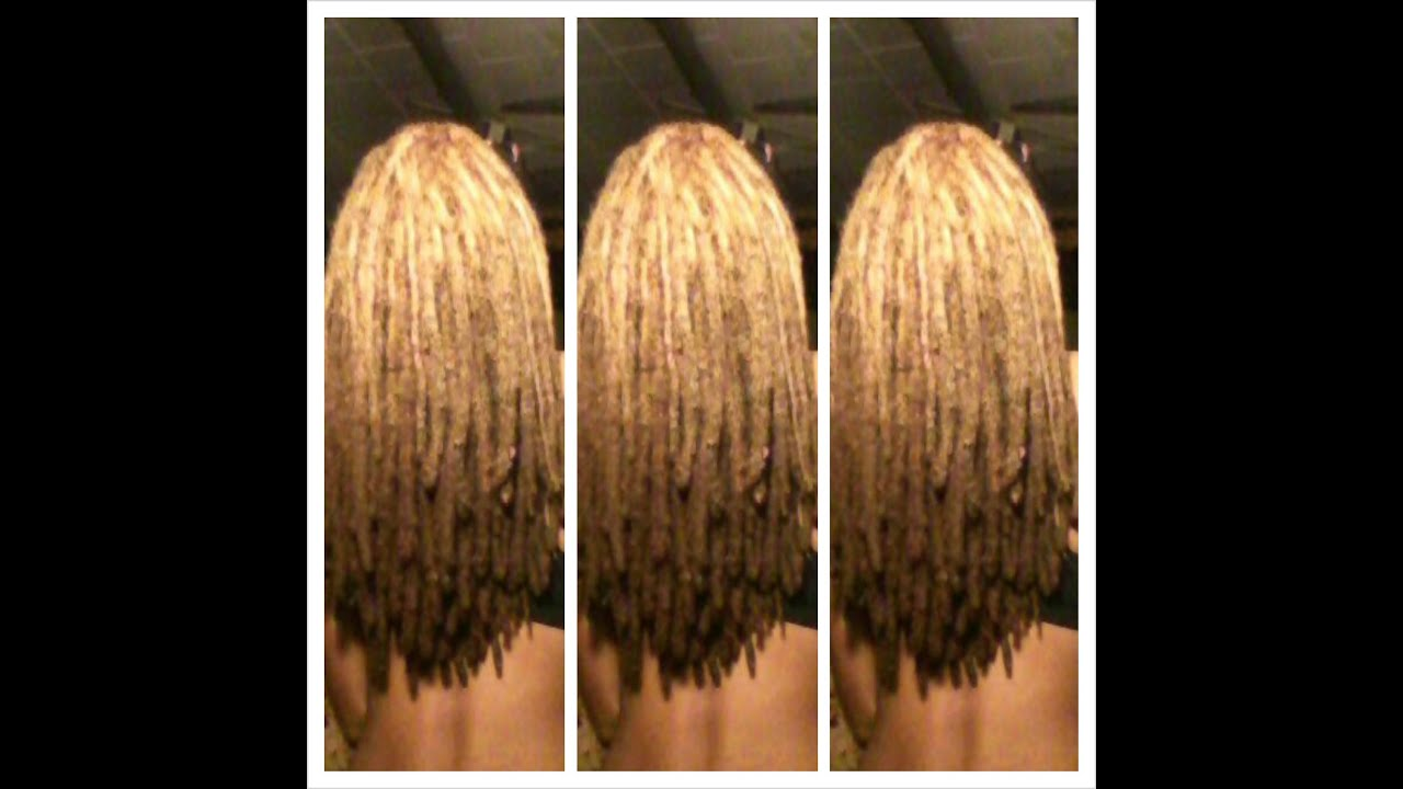 Blonde Locs Reverse Ombre Day 8 Youtube