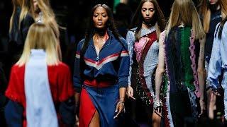 Naomi Campbell, Gigi Hadid hit bold Versace runway in Milan
