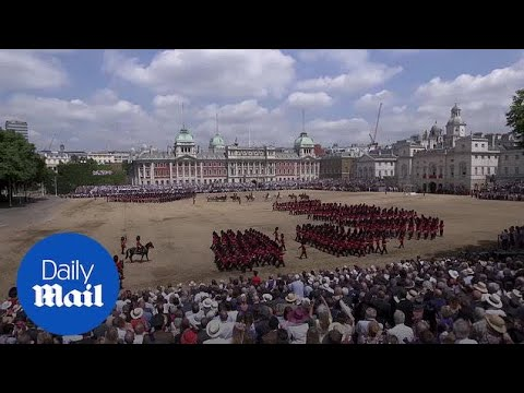 Explained: What is the UK's Trooping the Colour parade? - Daily Mail