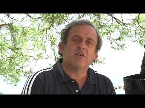 Michel Platini ALS Ice Bucket Challenge