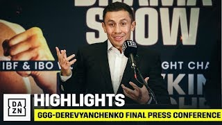 HIGHLIGHTS | GGG vs. Sergiy Derevyanchenko Final Press Conference
