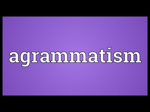 Header of agrammatism