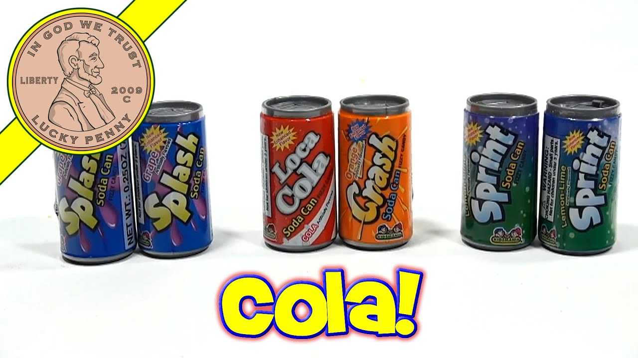 Soda Fizz Candy Soda Pop Fiz Candy Mini Cans