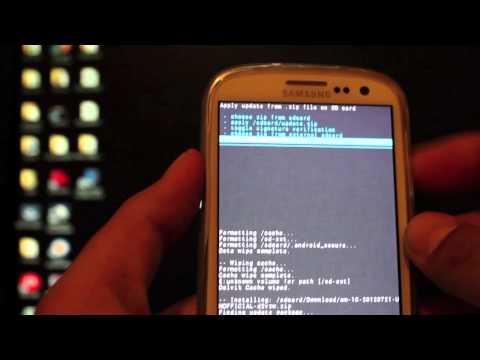 Verizon Galaxy S III How to Install Cyanogen Mod 10 4.1.1 jelly bean or CM9
